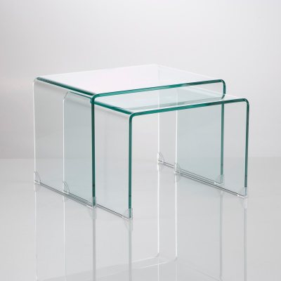 Table basse verre tremp joan lot de 2 la redoute pickture - Table salon verre trempe ...