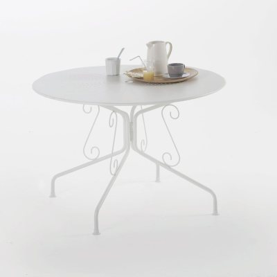 Table de jardin volutes m tal la redoute pickture for Table jardin la redoute