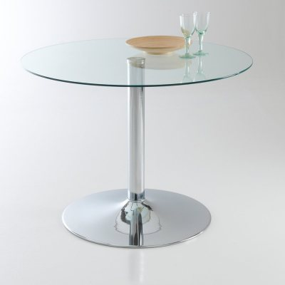 Table ronde contemporaine verre tremp 4 la redoute pickture - La redoute table ronde ...