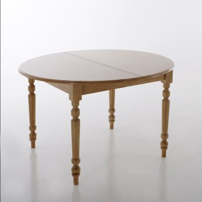 Table ronde 2 allonges pin massif miel 4 8 la redoute pickture - La redoute table ronde ...