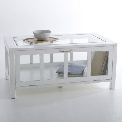 Table basse vitrine rectangulaire inqaluit la redoute for Table basse vitrine