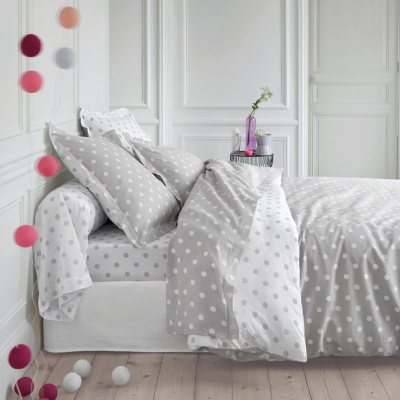 housse de couette imprim e pois clarisse gris la redoute pickture. Black Bedroom Furniture Sets. Home Design Ideas