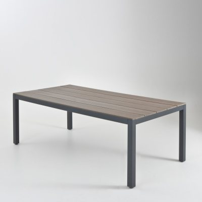 table de jardin aluminium et polywood l210 cm la redoute pickture. Black Bedroom Furniture Sets. Home Design Ideas