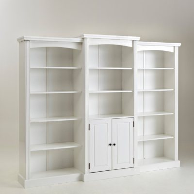 biblioth que double pin massif coloris blanc la redoute pickture. Black Bedroom Furniture Sets. Home Design Ideas