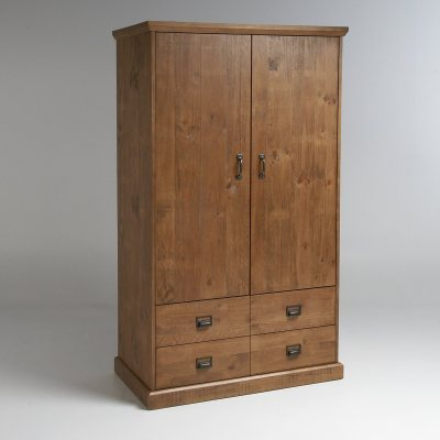 armoire penderie 2 portes 2 tiroirs lindley la redoute. Black Bedroom Furniture Sets. Home Design Ideas