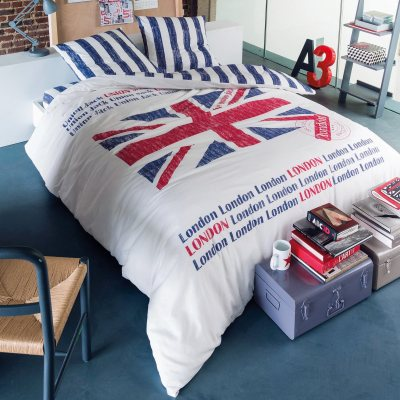 parure housse de couette taie union jack la redoute pickture. Black Bedroom Furniture Sets. Home Design Ideas