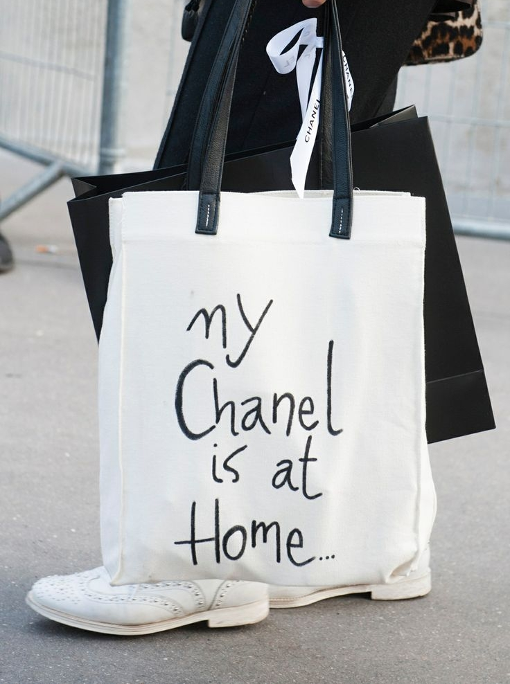 Tote bag my chanel is at home pickture for How to make designer bags at home
