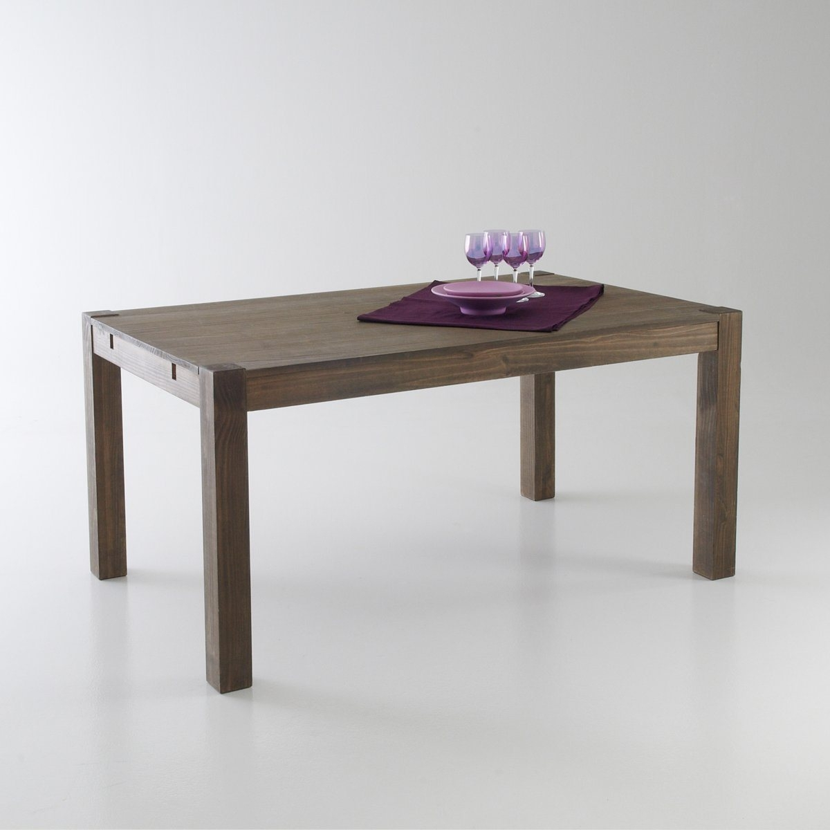 table 2 allonges pin massif 6 8 couverts la redoute