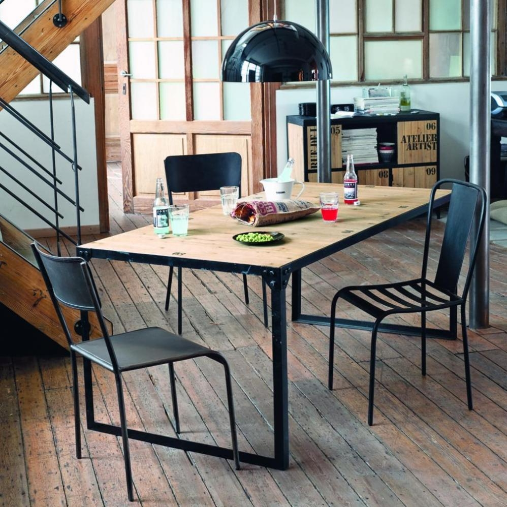 Table d ner indus docks maisons du monde pickture for Photophore maison du monde