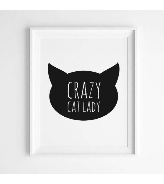 affiche crazy cat my little flamant rose pickture. Black Bedroom Furniture Sets. Home Design Ideas