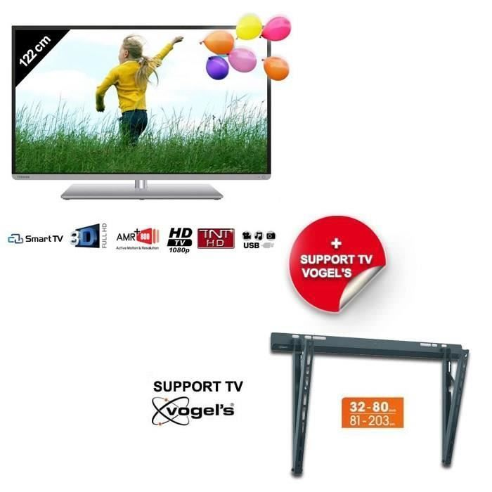 Toshiba 48l1433dg tv led 121cm support mural toshiba pickture - Support mural tv led ...