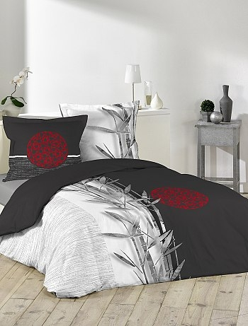 parure de lit imprim roseaux linge kiabi pickture. Black Bedroom Furniture Sets. Home Design Ideas