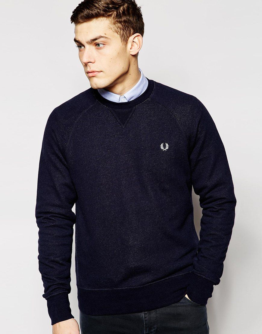 fred perry sweat avec logo couronne de lauriers fred perry pickture. Black Bedroom Furniture Sets. Home Design Ideas