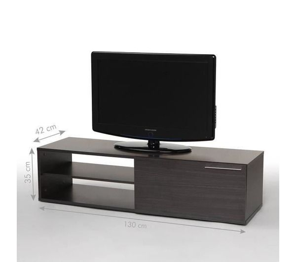 Kikua meuble tv 130 cm gris cendr noname pickture - Meuble tv high tech ...