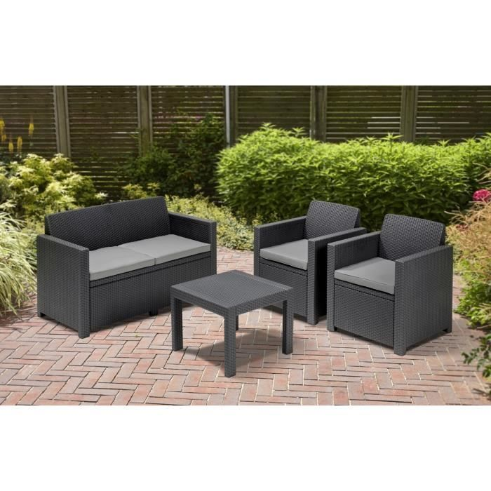 alabama salon de jardin aspect rotin allibert jardin. Black Bedroom Furniture Sets. Home Design Ideas