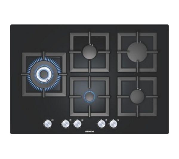 Table de cuisson gaz 5 feux verre noir siemens pickture - Table de cuisson gaz siemens ...