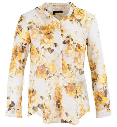 chemise imprim fleurs the kooples jaune pour the kooples pickture. Black Bedroom Furniture Sets. Home Design Ideas