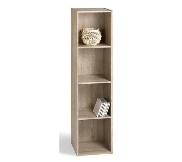 compo cube de rangement 4 cases coloris chene noname pickture. Black Bedroom Furniture Sets. Home Design Ideas