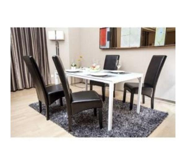 Cuba lot de 2 chaises de salle a manger noires noname for Lot de chaises noires