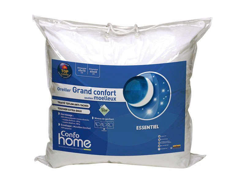 Oreiller 45 x 70 cm grand confort conforama pickture - Oreiller grand confort ...