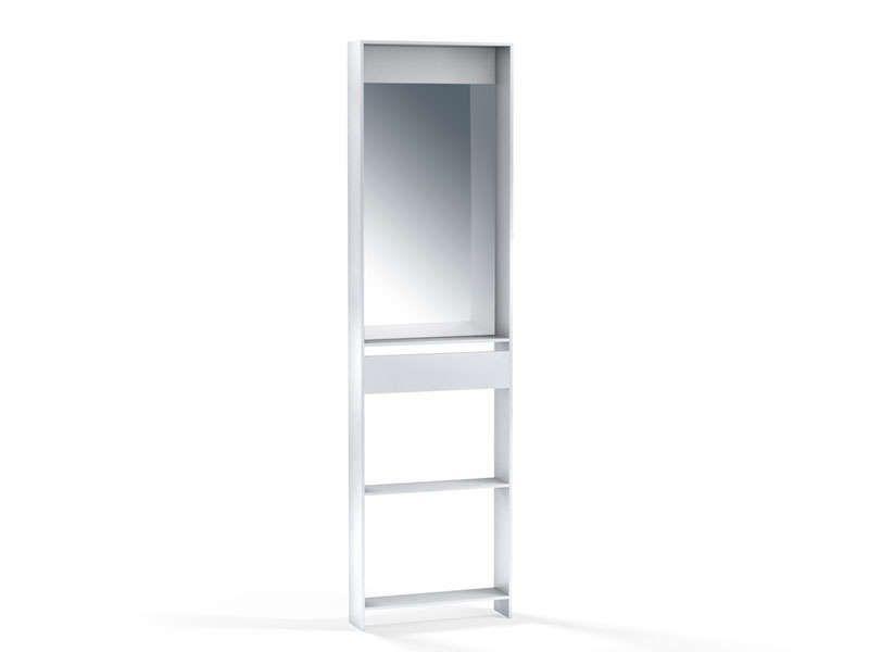 C t finition miroir no limit coloris blanc conforama for Conforama miroir blanc
