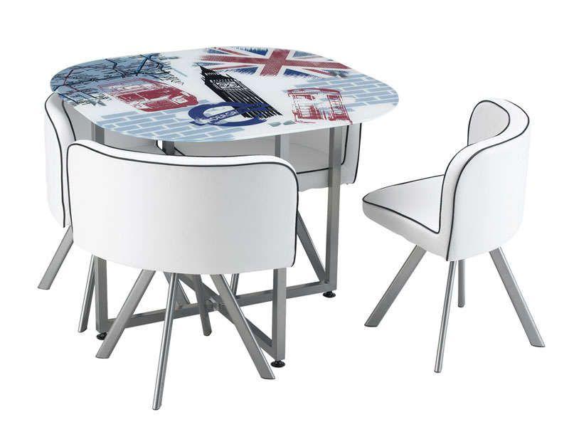 Set 1 table 4 chaises union conforama pickture - Set table et chaises ...