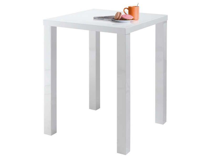 Table de bar jackie coloris blanc conforama pickture - Table de bar blanc laque ...