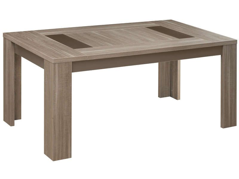 Table rectangulaire 95 cm atlanta coloris ch ne for Salle a manger atlanta conforama