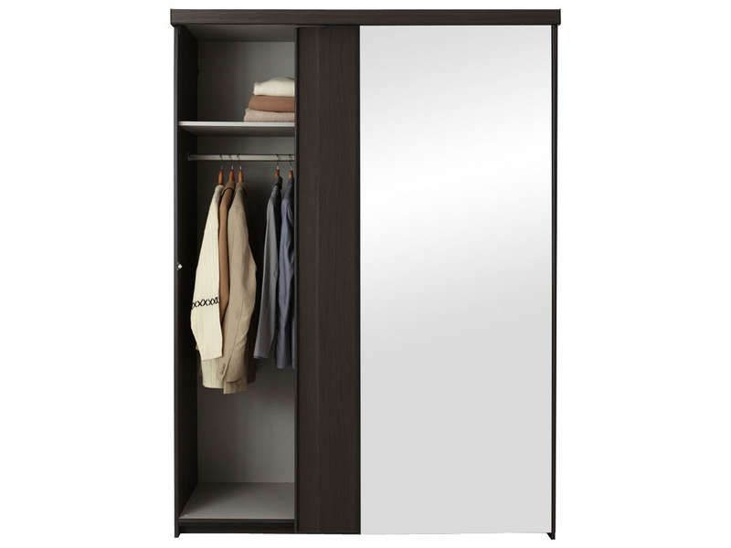armoire 2 portes no limit coloris fr ne conforama pickture. Black Bedroom Furniture Sets. Home Design Ideas