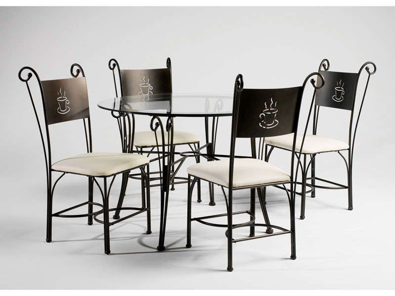 Table ronde 4 chaises maison design for Table de cuisine ronde chez conforama