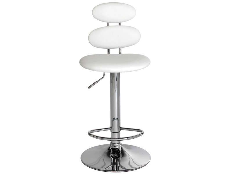 tabouret de bar circle coloris blanc conforama pickture. Black Bedroom Furniture Sets. Home Design Ideas