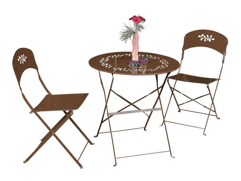 table 2 chaises bistrot coloris rouille conforama. Black Bedroom Furniture Sets. Home Design Ideas