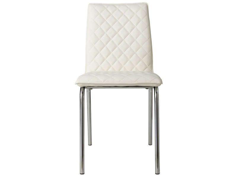 Chaise kris coloris blanc conforama pickture - Chaise cuir blanc conforama ...