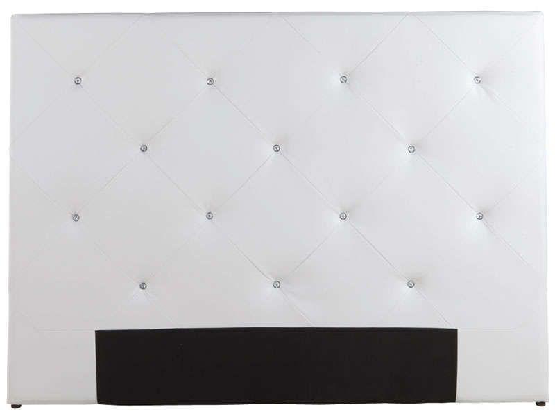 t te de lit diamond coloris blanc conforama pickture. Black Bedroom Furniture Sets. Home Design Ideas