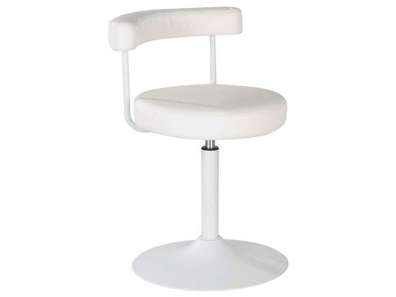 Chaise fjord coloris blanc conforama pickture - Chaise cuir blanc conforama ...