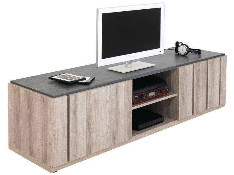 Table tv en verre conforama for Meuble bureau verre conforama