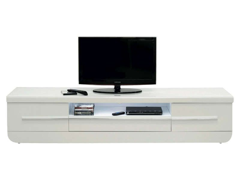 meuble tv floyd coloris blanc conforama pickture. Black Bedroom Furniture Sets. Home Design Ideas