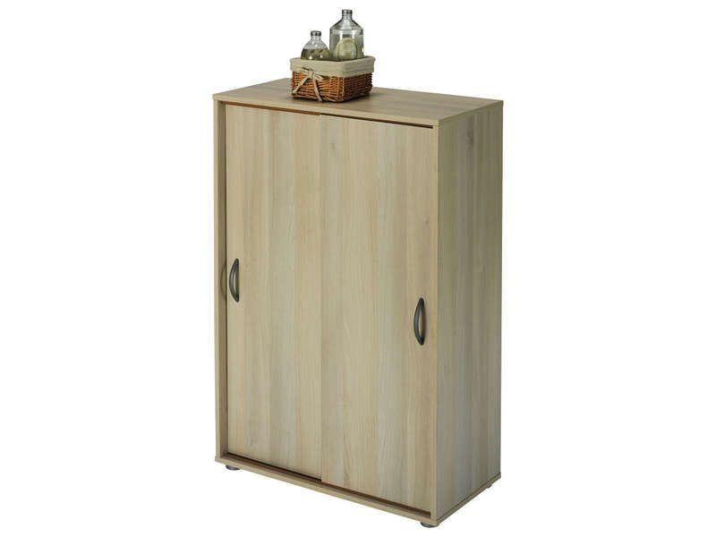 Ling re 2 portes coulissantes nexty conforama pickture for Meuble bas portes coulissantes conforama