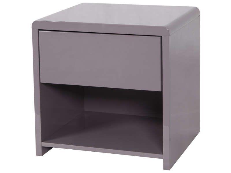 chevet 1 tiroir easy 2 coloris taupe conforama pickture. Black Bedroom Furniture Sets. Home Design Ideas