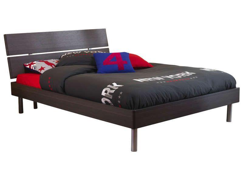 lit 140x190 cm t te de lit et sommier vendues conforama. Black Bedroom Furniture Sets. Home Design Ideas