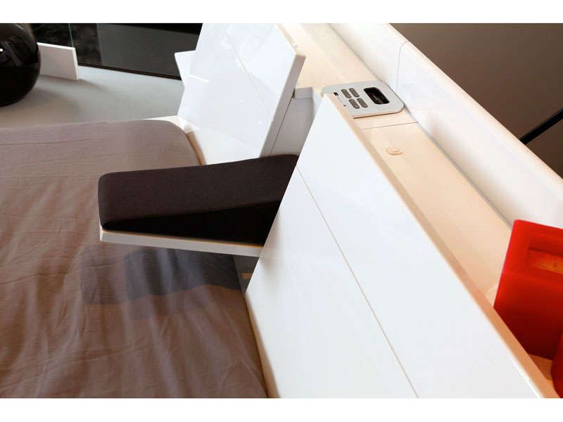 environnement lit 160 cm cocoon coloris blanc conforama pickture. Black Bedroom Furniture Sets. Home Design Ideas