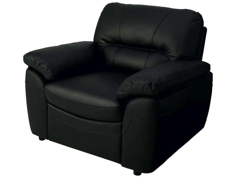 Fauteuil en cuir vesuve coloris noir conforama pickture - Fauteuil cuir conforama ...