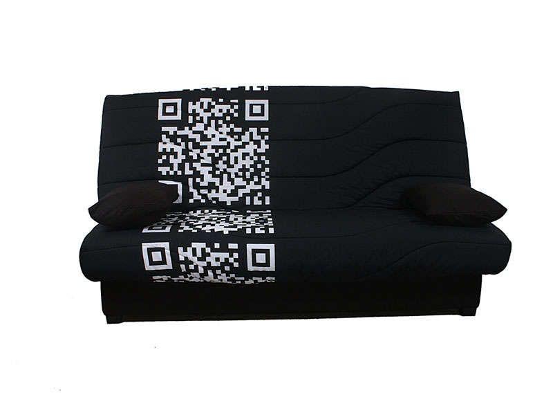 Couette clic clac 140 cm prima fcode noir conforama pickture - Clic clac couchage 140 ...
