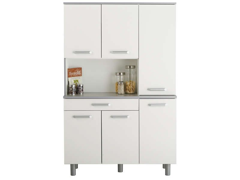 Buffet opale coloris blanc conforama pickture for Buffet de cuisine conforama