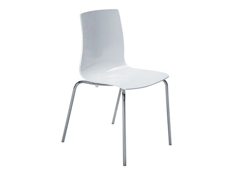 Chaise lollipop 2 coloris blanc conforama pickture for Chaise blanche conforama