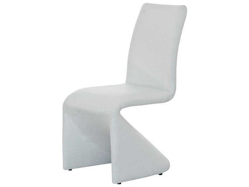 Chaise vision coloris blanc conforama pickture for Chaise blanche conforama