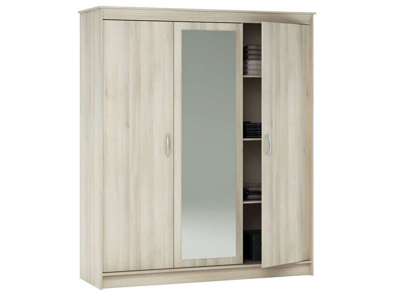 armoire 3 portes 1 tiroir symphonie coloris conforama. Black Bedroom Furniture Sets. Home Design Ideas