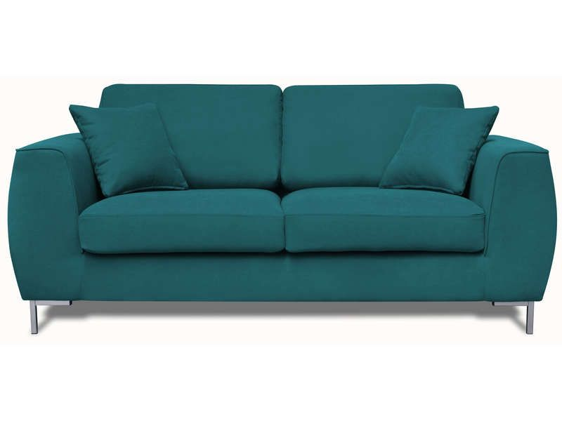 canap fixe 3 places eddie coloris bleu canard conforama pickture. Black Bedroom Furniture Sets. Home Design Ideas