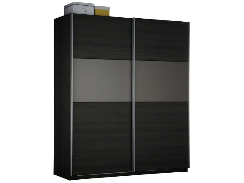 armoire 2 portes coulissantes graphic coloris conforama. Black Bedroom Furniture Sets. Home Design Ideas