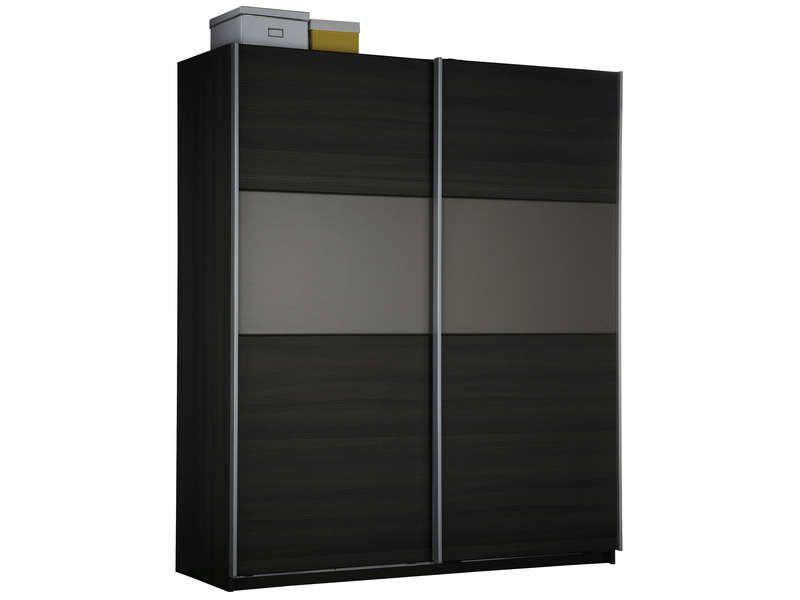 Armoire 2 portes coulissantes graphic coloris conforama - Armoire conforama 2 portes coulissantes ...